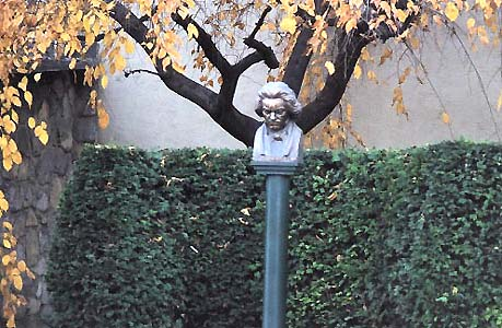 a bust of Beethoven at Mödling