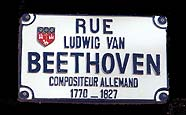 Beethoven's street at  Toulouse