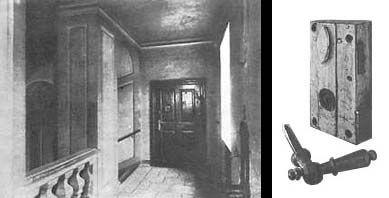 The hall and the door of the last apartment of Beethoven