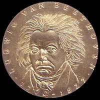 Medal with Ludwig van Beethoven...